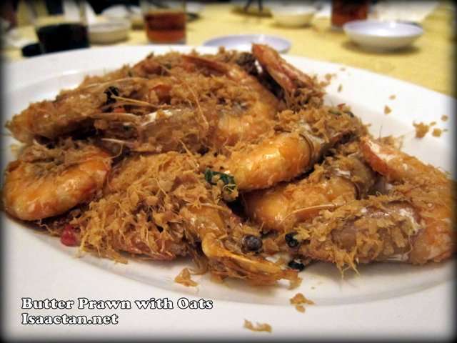 Butter Prawn with Oats