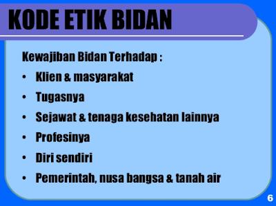 kode etik bidan indonesia terbaru
