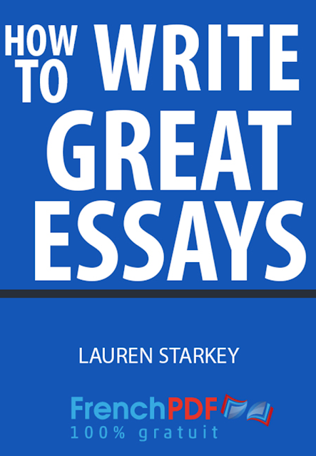 how to write a great essay pdf