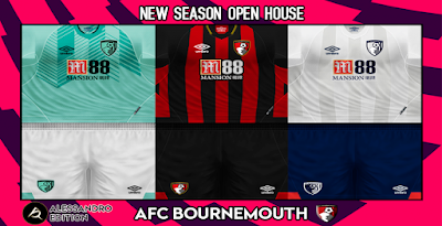 PES 6 Kits AFC Bournemouth Season 2018/2019 by Alessandro