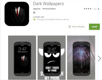wallpaper gelap menghemat masa pakai baterai