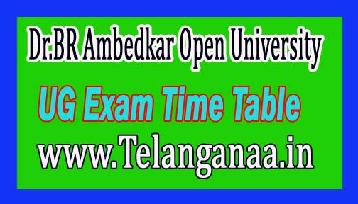 Dr.BR Ambedkar Open University BRAOU UG 1st 2nd 3rd Year Examination Time Table Nov/Dec 2016