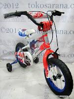 2 Sepeda Anak Wimcycle Spiderman 12 Inci