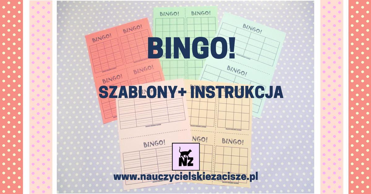 Nauczycielskie Zacisze Bingo Plansze Do Druku Instrukcja