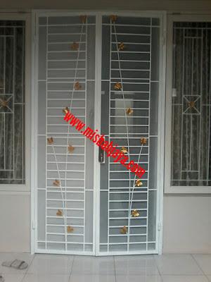 pintu kasanyamuk besi minimalis