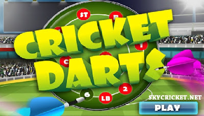 Play online cricket darts game