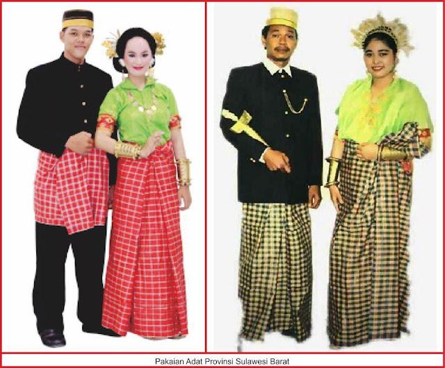 gambar baju adat sulawesi barat