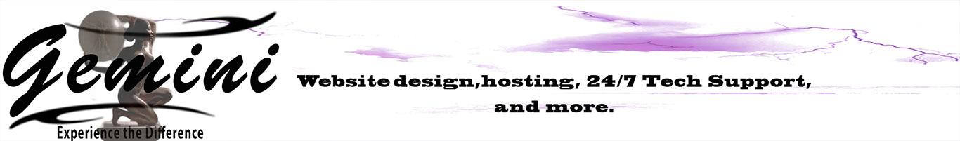 Gemini website design and Hosting