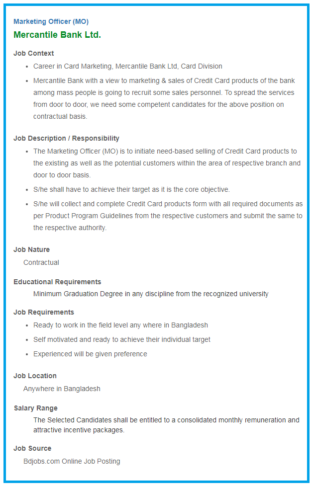 mercantile-bank-limited-job-circular