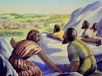 When they neared the Promised Land, Moses sent out twelve spies, one from each tribe.