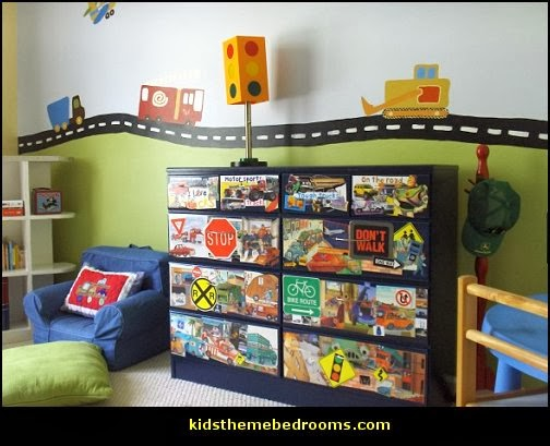 Decorating theme bedrooms maries manor transportation for Construction themed bedroom ideas