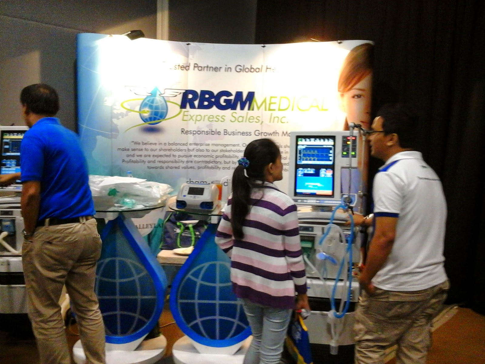 RBGM Medical Express Sales, Inc Exhibit Stand