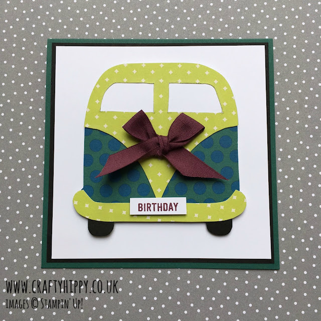 Learn how to make a Campervan card using Designer Series Paper by Stampin' Up!
