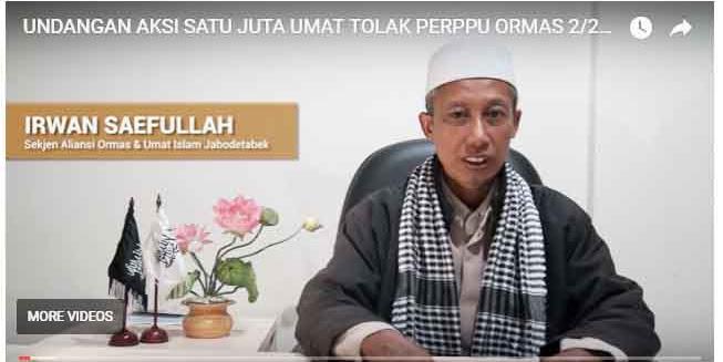 Jengah Atas Kengototan Penguasa Berlakukan Perppu Ormas, 1 Juta Umat akan Kepung Jakarta