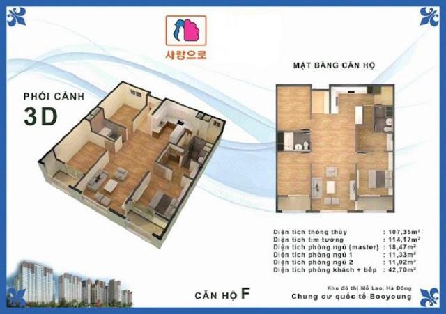 Căn hộ F chung cư Booyoung Vina Mỗ Lao