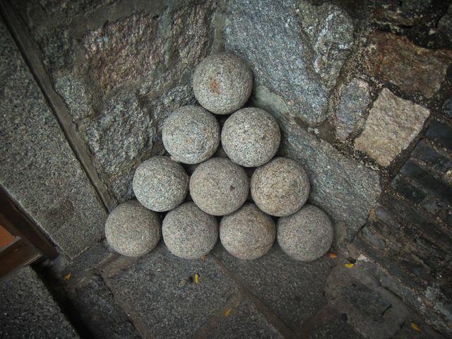 Cannonballs at Fortaleza do Monte
