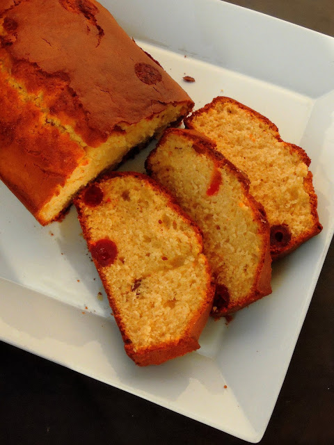 Glaced Cherries Pound Cake
