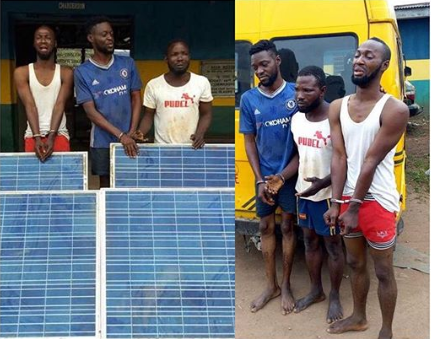 Thief in tears after being arrested for stealing N14m solar panel