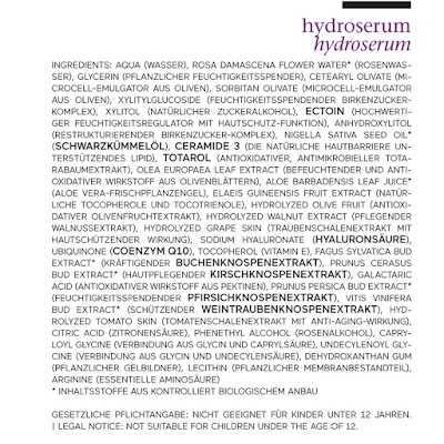composition hydroserum de Ringana