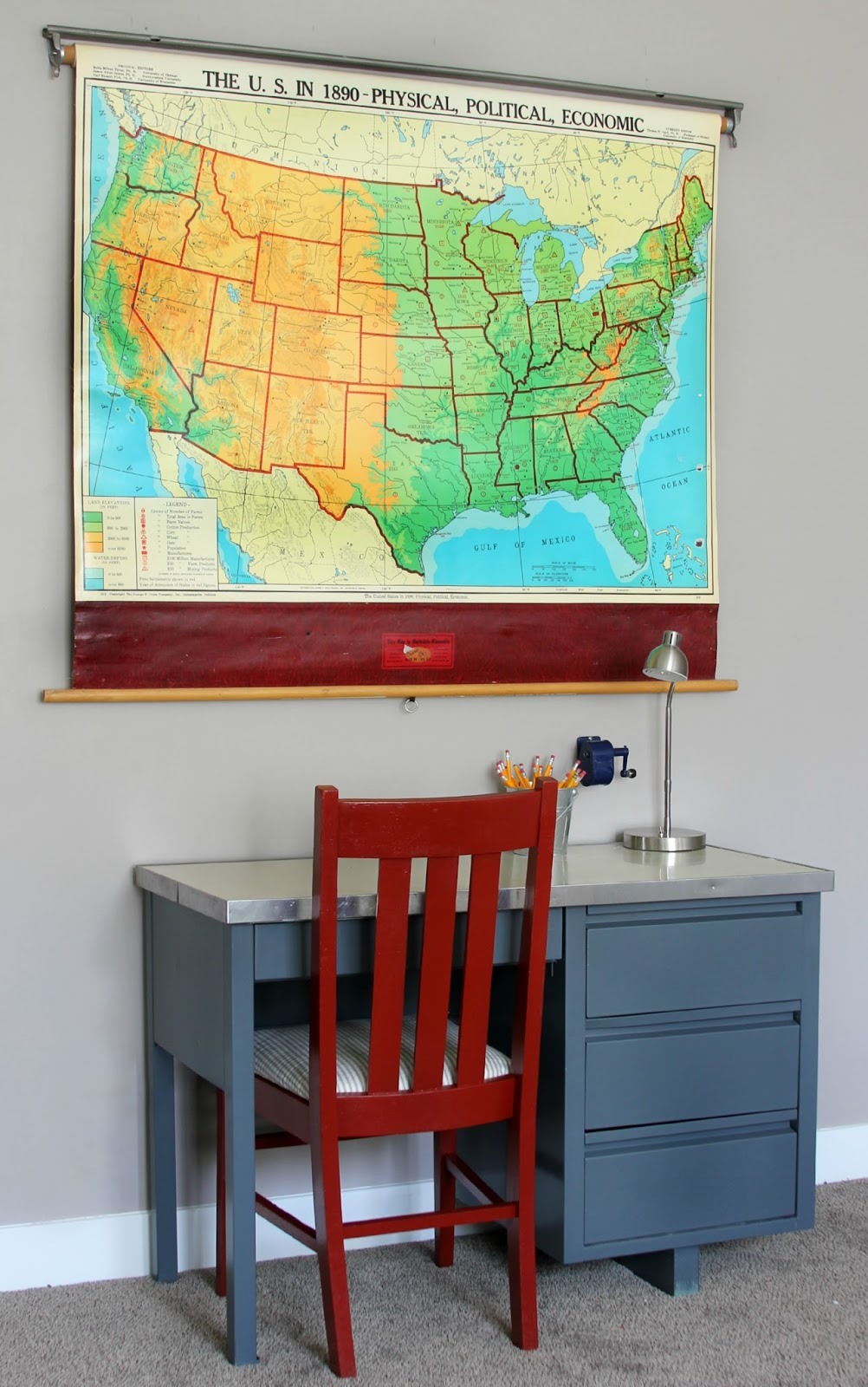 boy's room desk makeover | 320 * Sycamore