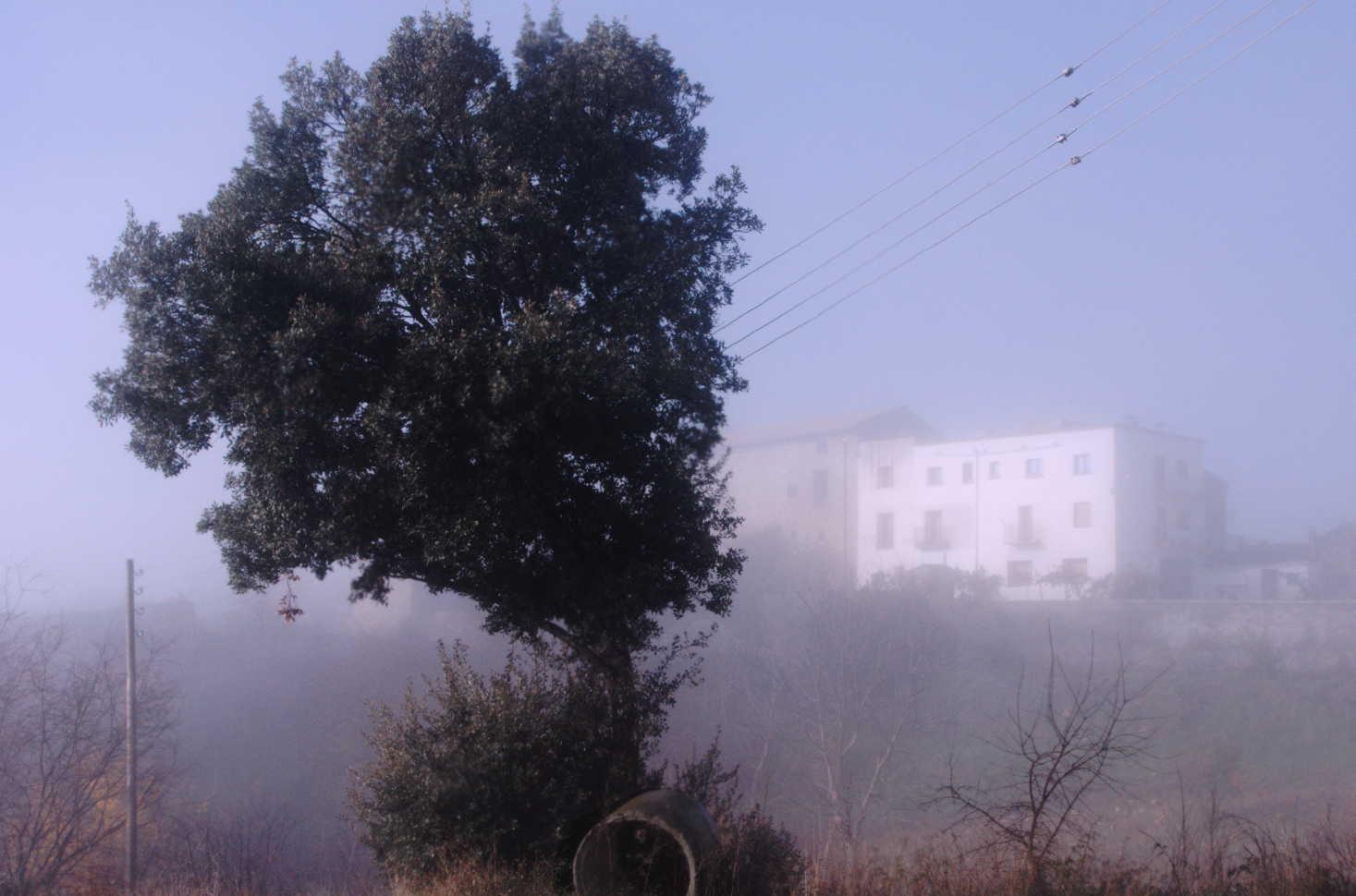 Boira frente a casa Chorche
