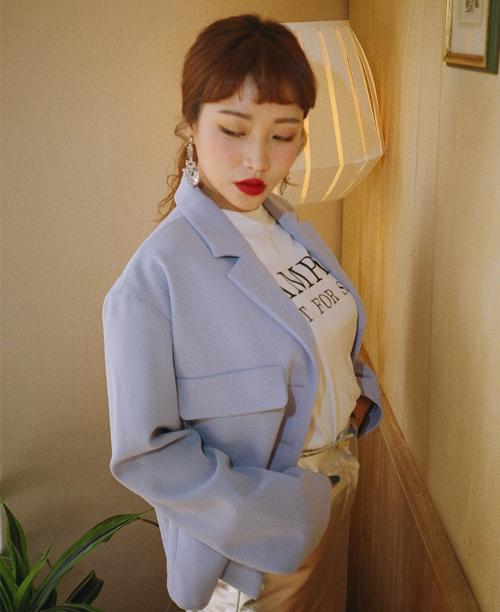 Flap Pocket Buttoned Jacket