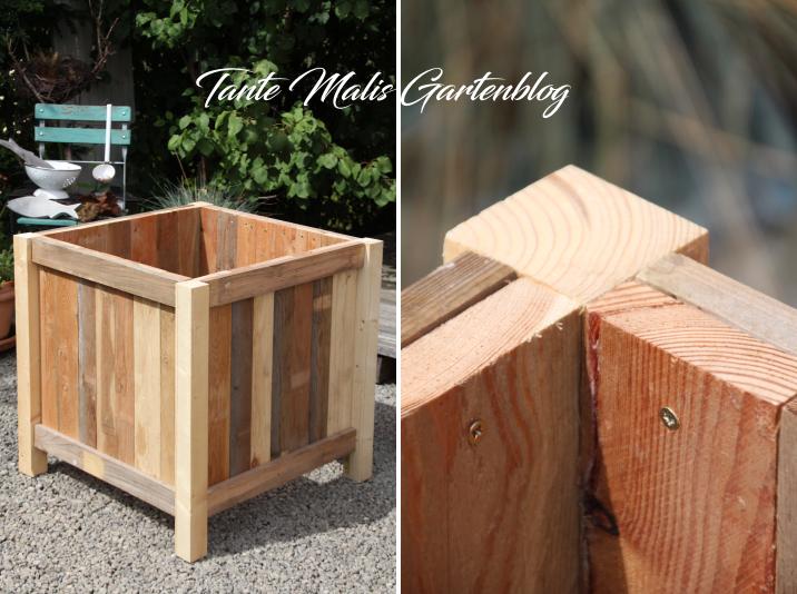 Pflanztrog aus Holz selber bauen