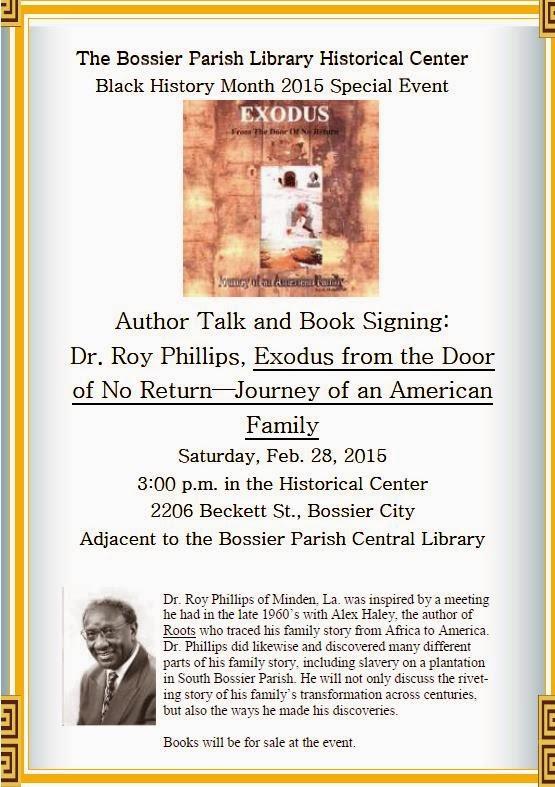Bossier Parish Libraries History Center: 2015