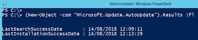 Windows: Update ver fecha Powershell