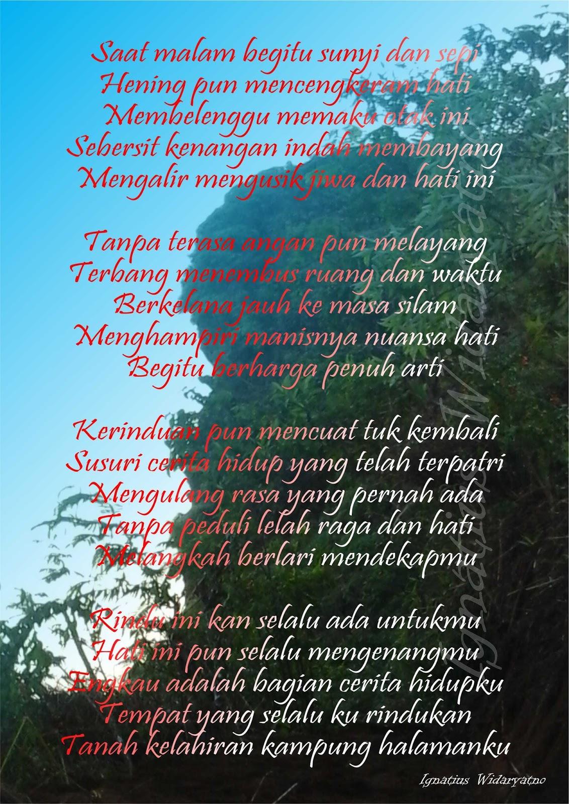 Kata Kata Mutiara Dan Puisi Ungkapan Jiwa Puisi Tanah Kelahiran