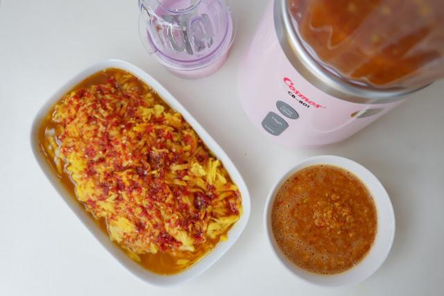 membuat sambal mangga serut dengan cosmos blenz cb 801