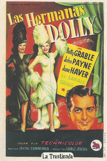 Programa de Cine - Las Hermanas Dolly - Betty Grable - John Payne