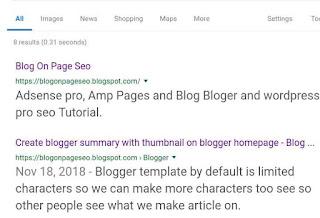 Cara mengaktifkan deskripsi penelusuran di blog untuk meningkatkan rangking, CTR dan agar lebih relevan