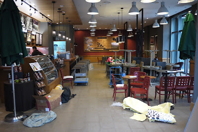 inside of Starbucks store