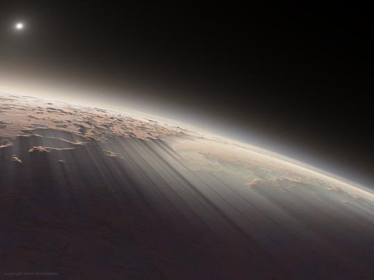 Марс, світанок