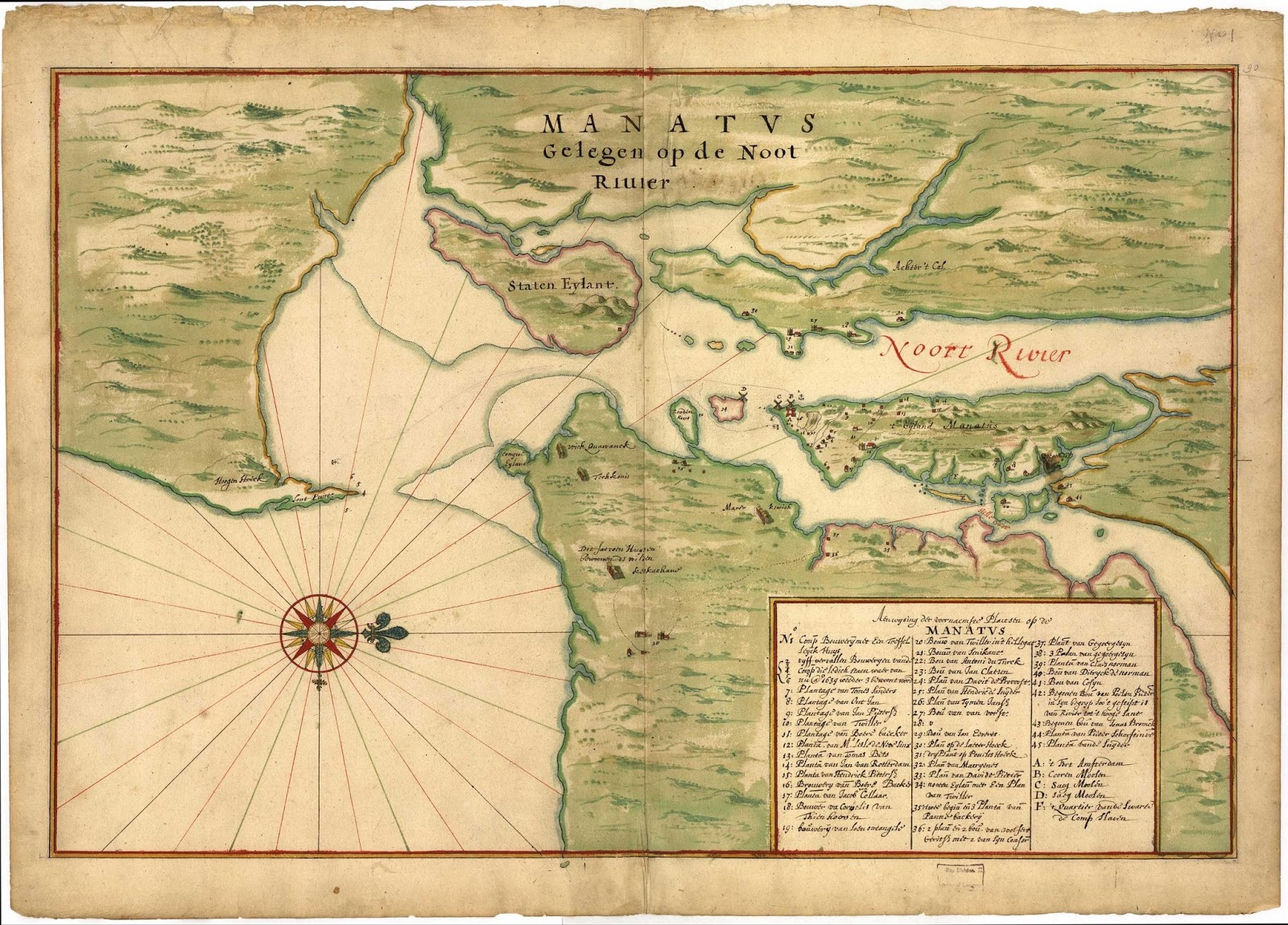 Map of Manhattan (1639)