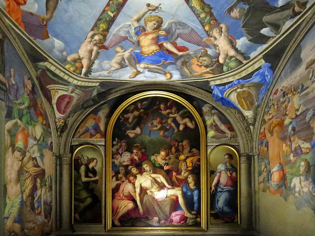 Fresco decoration by Bronzino, chapel of Eleanor of Toledo, Palazzo Vecchio, Florence