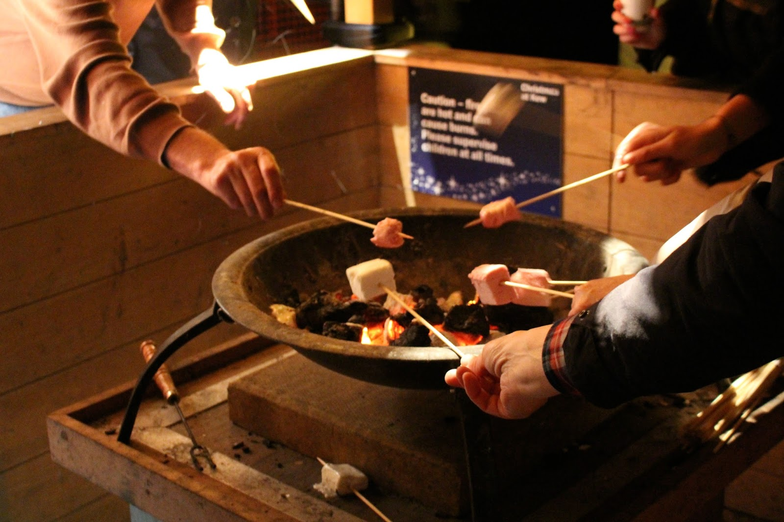christmas at kew 2015 toasted marshmallows
