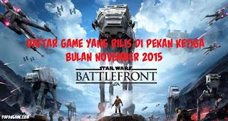 game pekan ketiga november 2015