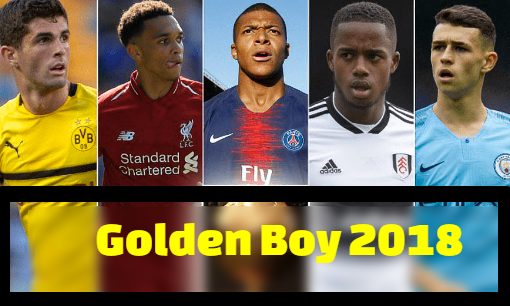 Golden Boy 2018, award, Mbappe, Foden, Alexander-Arnold, 40-man, nominees, shortlisted.