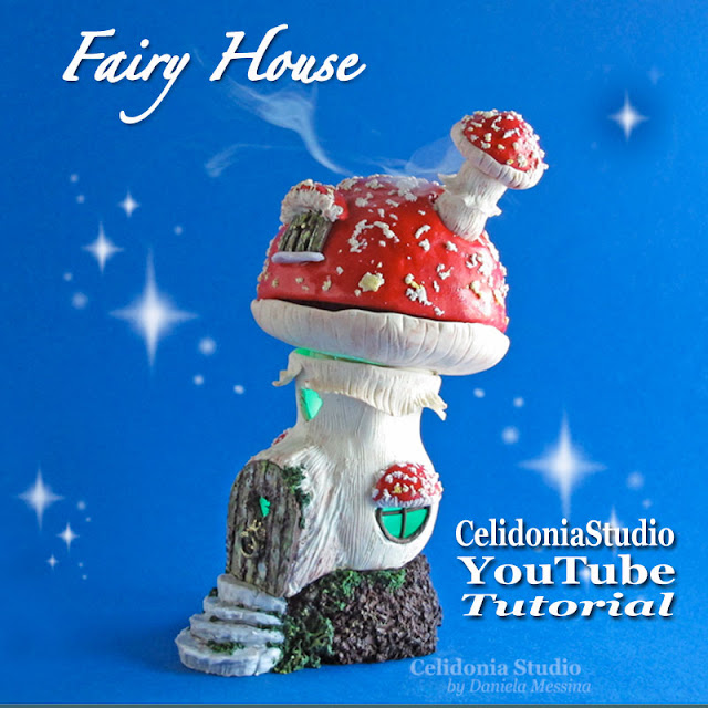 Fairy House - Polymer Clay tutorial by Celidonia - Daniela Messina