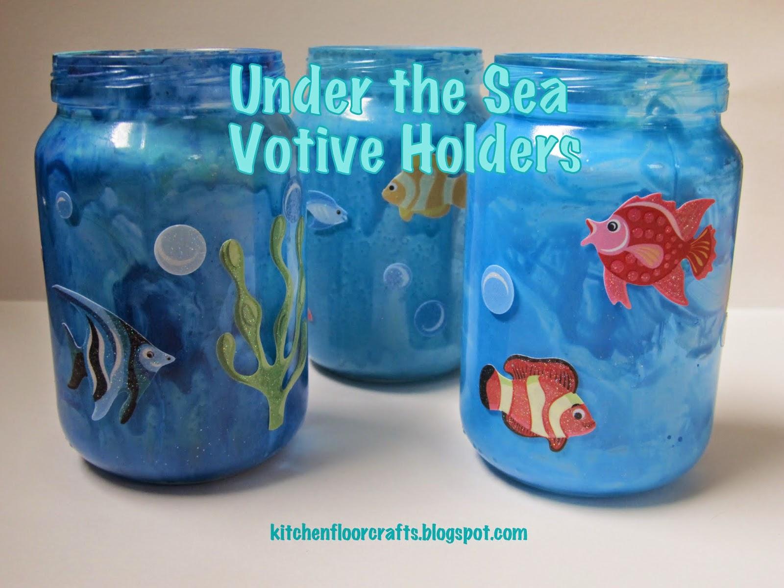 Kitchen Floor Crafts Under The Sea Votive Holders