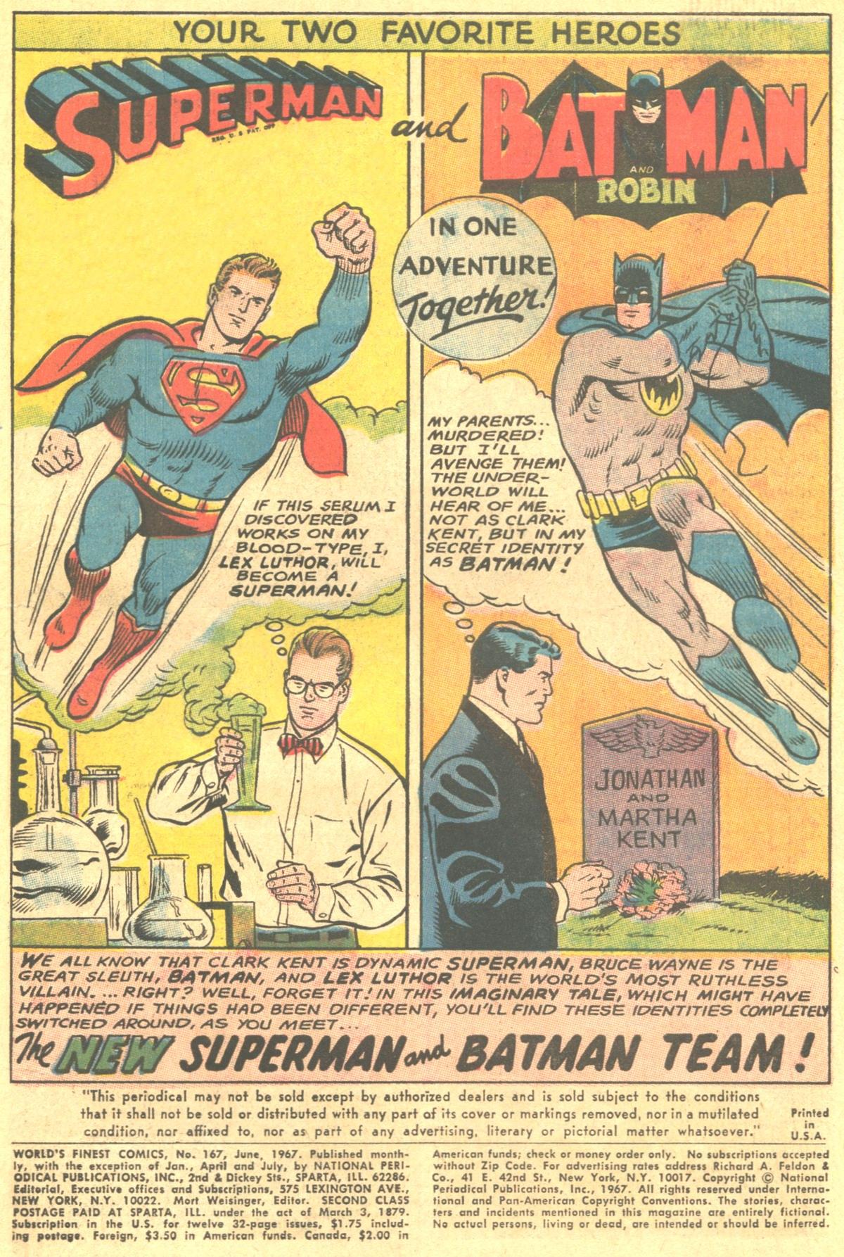 Read online World's Finest Comics comic -  Issue #167 - 3