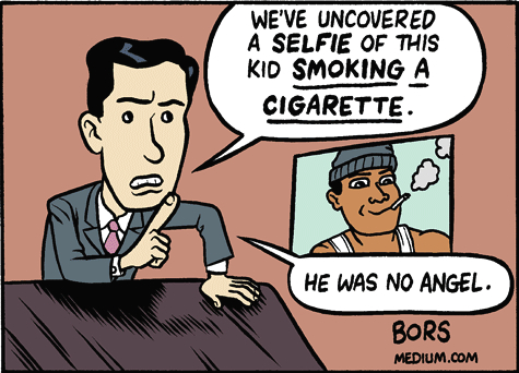 Fear of a Black Victim by Matt Bors.