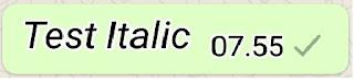 Membuat Tulisan Miring Whatsapp