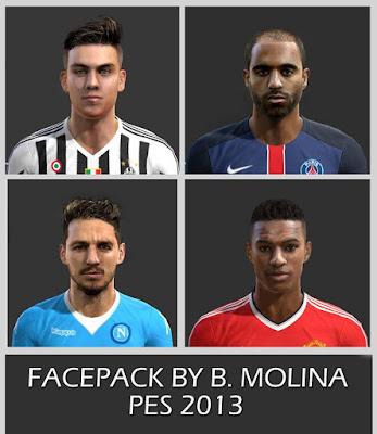 PES 2013 Facepack By B. Molina