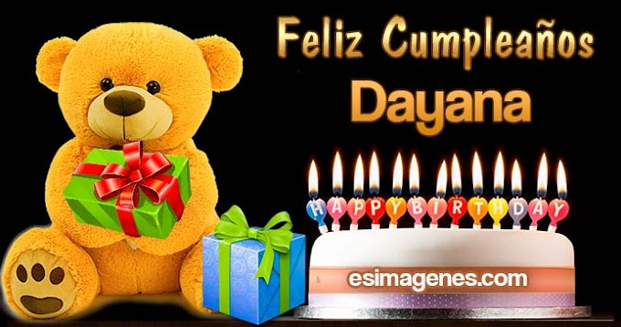 Feliz cumpleaños Dayana