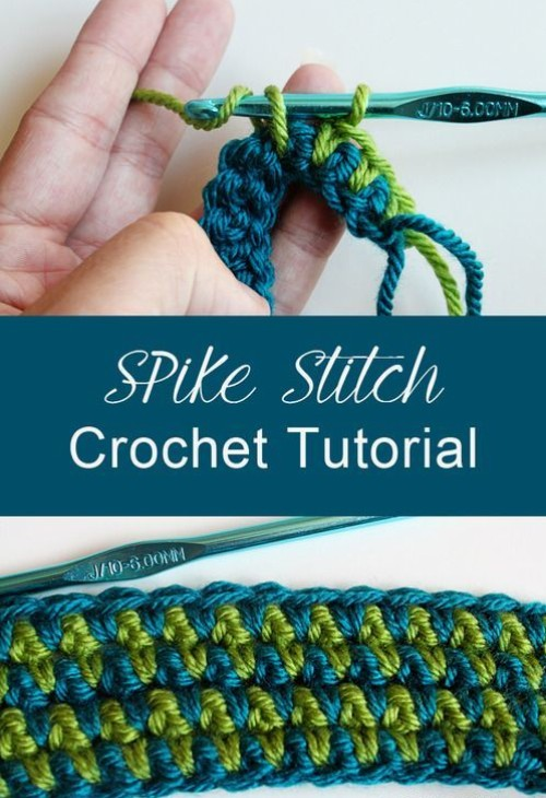 How to Make a Crochet Spike Stitch - Tutorial & Free Pattern