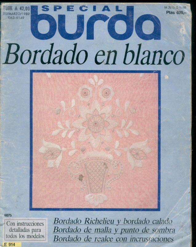 Burda Special Bordado-Revista burda bordados 1989