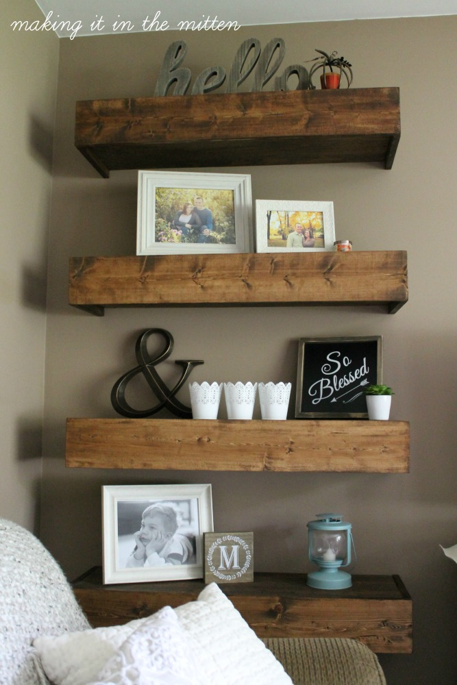 Making It In The Mitten: DIY Wood Shelves